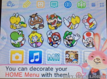 An example of a Mario-themed home page.