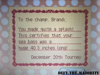 I'm a winner!