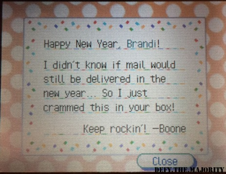 New Year's Day in Animal Crossing: Wild World! – Walk Away From The Sun…