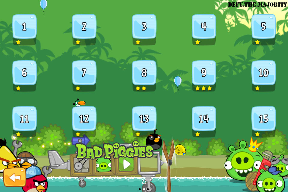My Progress in Angry Birds! – Walk Away From The Sun…